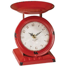 Vintage Style Red Old Town Scale Clock