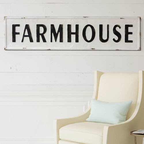 Vintage Embossed Metal Wood Signs Farmhouse Style Wall Decor