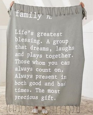 Family Definition Throw Blanket