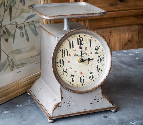 Vintage Inspired SMALL Grocery Scale Clock