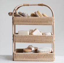 Decorative Rattan 3-Tier Tray