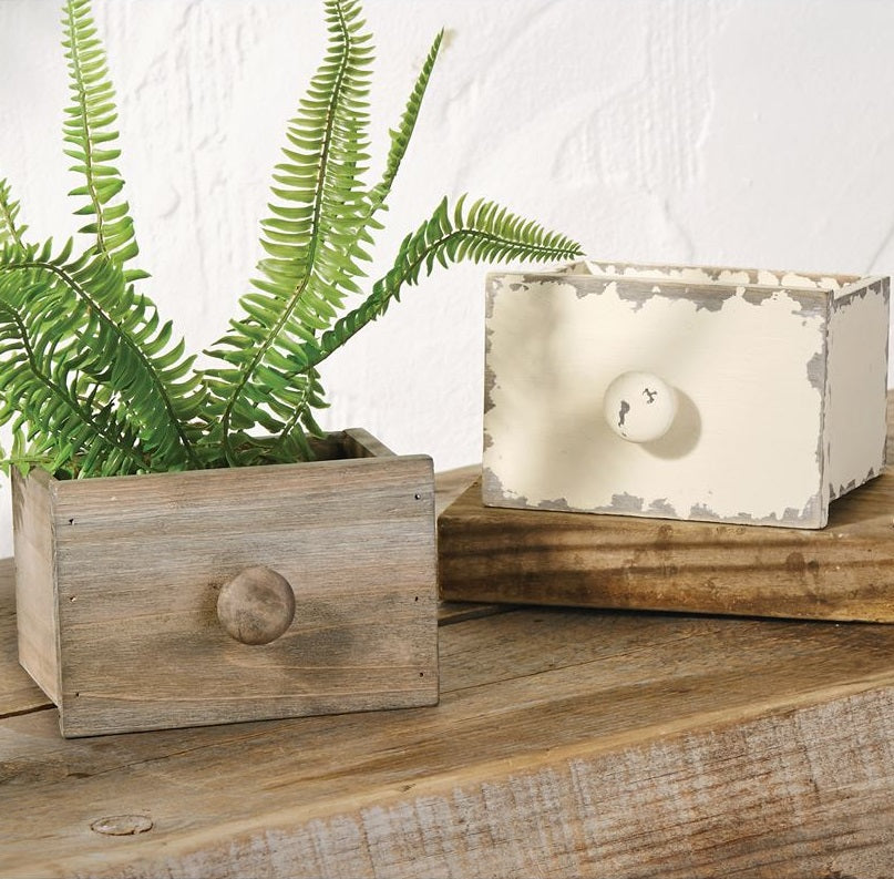 Vintage Style Drawer Boxes, Set of 2