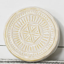 Ceramic Medallion Coasters/Risers/Candle Holders, Set of 6