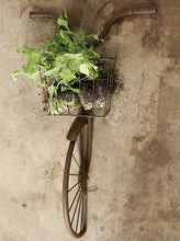 Bike and Basket Wall Decor, Rust