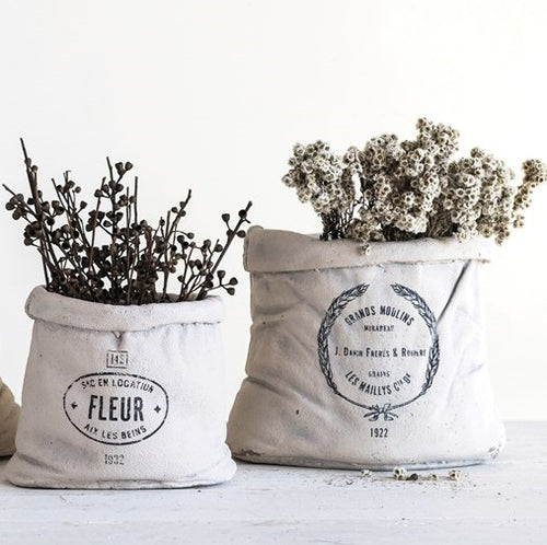 Large Cement Feed Sack Planter