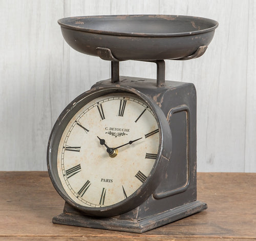 Vintage Inspired French Scale Clock