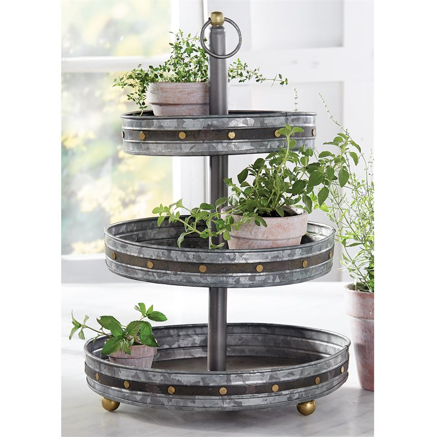 Galvanized Studded 3-Tier Server