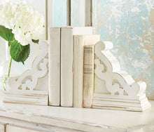 Distressed White Corbel Bookends