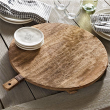 Rustic Wood Paddle Board Lazy Susan