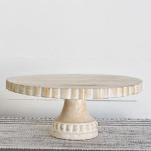 LARGE White Wash Wood Riser / Stand