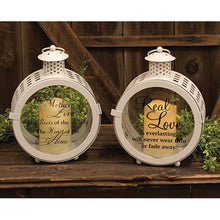 Love Lanterns with LED Candles, Set of 2