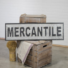 Vintage Embossed Metal MERCANTILE Sign