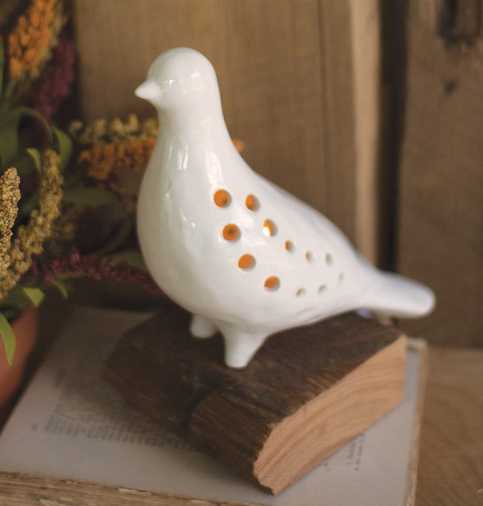 LARGE Lighted Ceramic Pigeon