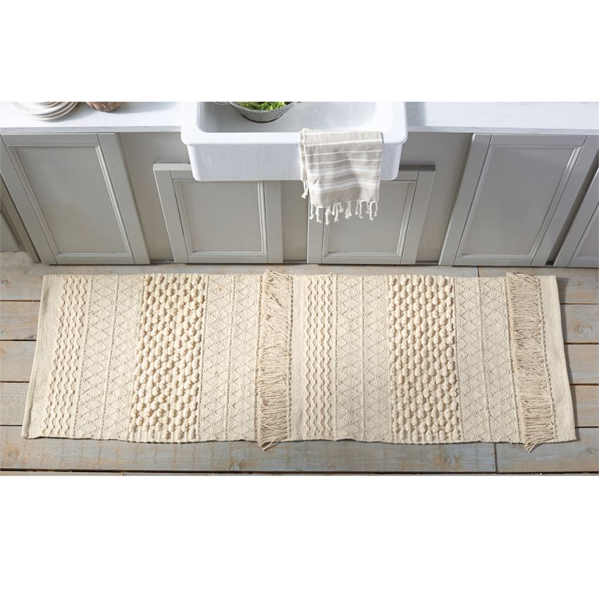 Large Cotton Fringe Throw Rug