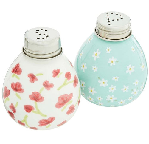 Floral Salt and Pepper Shakers