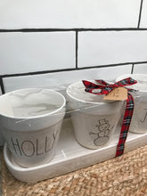 New Rae Dunn by Magenta HOLLY, Snowman, JOLLY 4 Piece Planter Set (Holiday Edition)