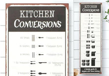 Vintage Style Metal Kitchen Conversions Sign