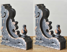 Antique Black Corbels, Set of 2