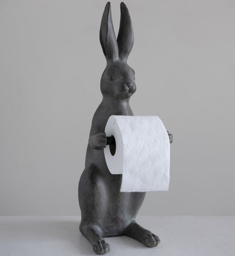 Standing Resin Gray Hare Tissue Holder