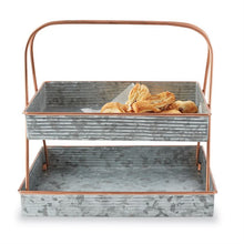 Tin & Copper Tiered Tray Server