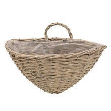 Oval WickerWall Baskets, Set of 2