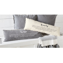 "Washed Canvas ""Home"" Definition Pillow"