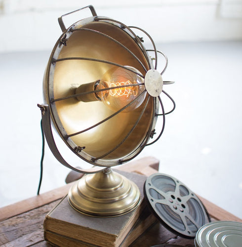 Industrial Chic Metal Caged Table Lamp