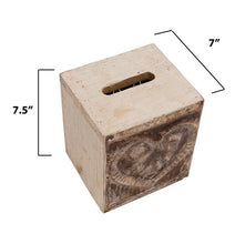 Wood & Metal Bless You Tissue Box Cover