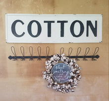 "Vintage Embossed Metal ""COTTON"" Sign"