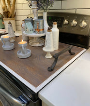 Handmade Two Tone Rustic Stove Top Cover / Noodle Board