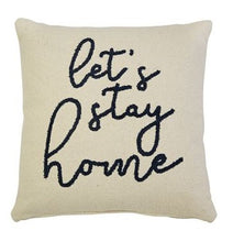 HUGE Let's Stay Home Boucle Pillow