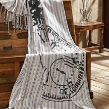 Ashmont Pocket Watch Throw Blanket with Tassels