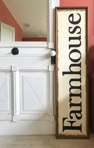 HUGE Hand-Painted Wooden Farmhouse Sign