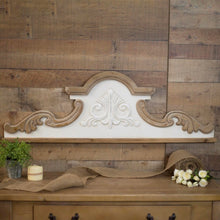 Two-Toned Wood Scroll Wall Decor