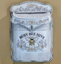 Busy Bee Hive Distressed Metal Post Box