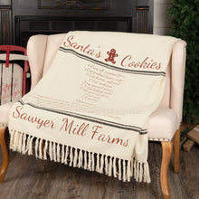 Sawyer Mill Santa's Cookies Woven Throw