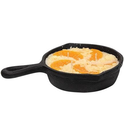 Peach Cobbler Cast Iron Skillet 3-Wick Candle