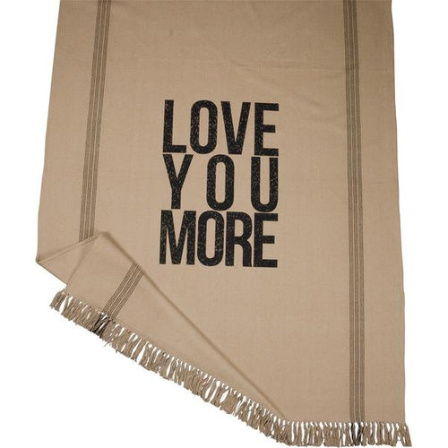 Primitives by Kathy Love You More Throw Blanket