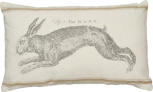The Hare (3 Tan Stripes) Pillow
