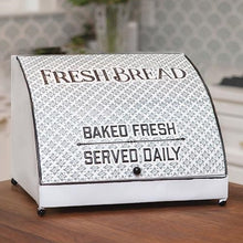 LARGE Vintage Metal Fresh Bread Box