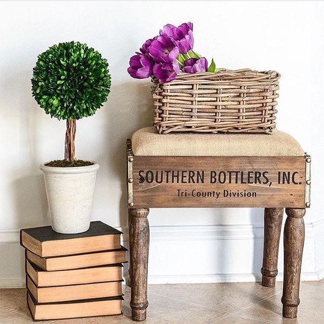 Bottle Crate Foot Stool