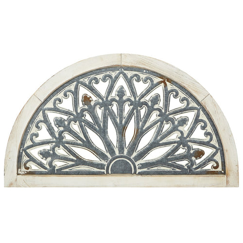 HUGE Arched Wood and Metal Wall Decor
