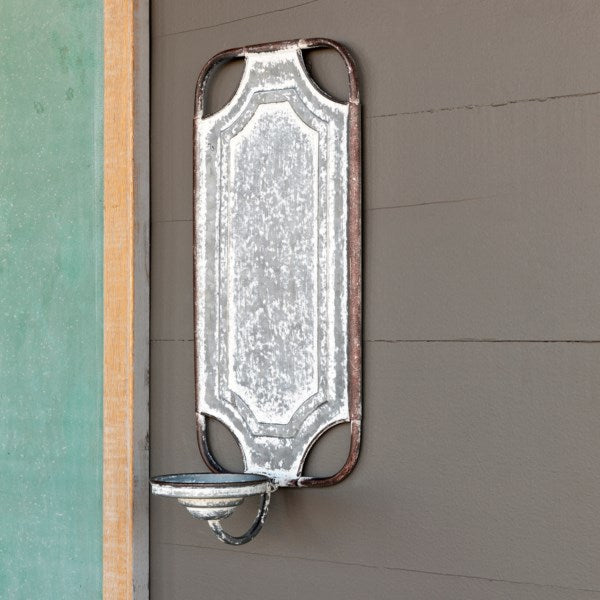 Large Vintage Inspired Metal Wall Sconce