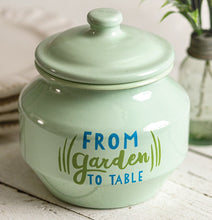 "Enameled Jadeite ""From Garden To Table"" Jar"