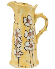 LARGE Vintage Inspired Ceramic Wildflower Pitcher