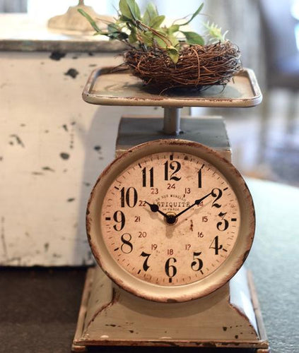 Vintage Inspired LARGE Grocery Scale Clock