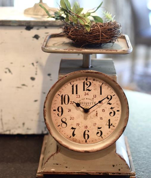 Vintage Hanging Kitchen Scale: Vintage Inspired LARGE Grocery Scale Clock