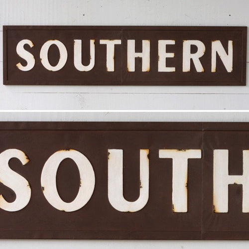 Vintage Embossed Metal Wood Signs Signage Decorative Wall
