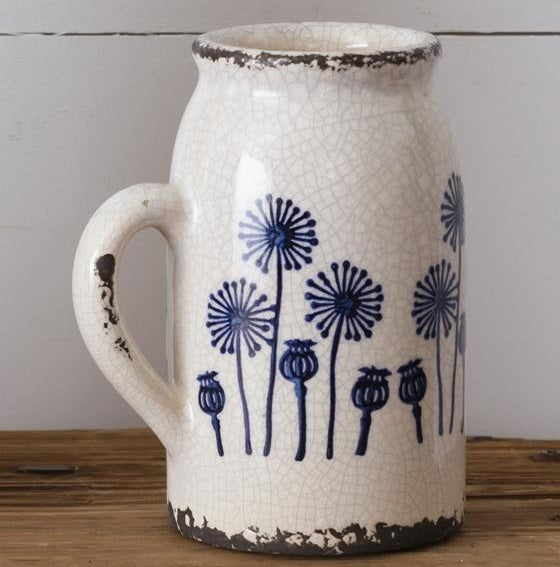 Small Dandelion Jug with Handle
