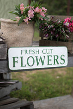 Vintage Embossed Metal Flowers Sign